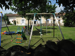 Safe, fully enclosed communal lawn and kids playground